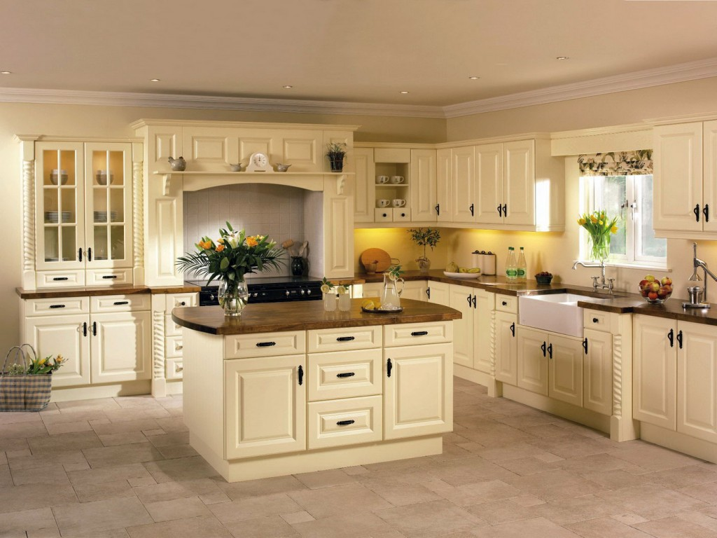 Ivory painted kitchen